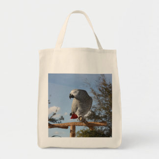 Stunning African Grey Parrot Tote Bag