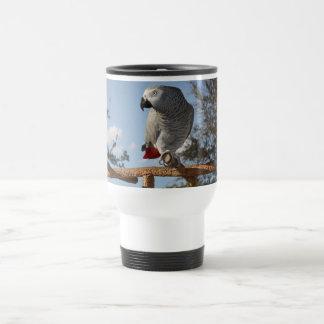 Stunning African Grey Parrot Travel Mug