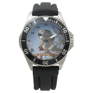 Stunning African Grey Parrot Wrist Watches