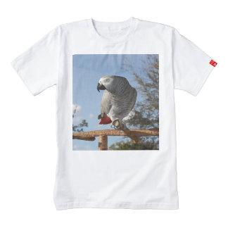 Stunning African Grey Parrot Zazzle HEART T-Shirt