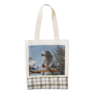 Stunning African Grey Parrot Zazzle HEART Tote Bag