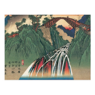 Stunning ancient Painting of a Bridge over a River Postcard