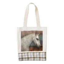Stunning andalusian horse portrait zazzle HEART tote bag