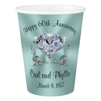 Stunning Any Year and Color Anniversary Paper Cups