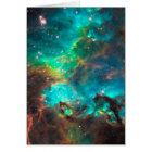 Stunning Aqua Star Cluster Card