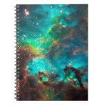Stunning Aqua Star Cluster Note Books