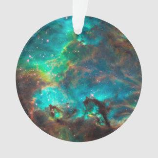 Stunning Aqua Star Cluster Ornament