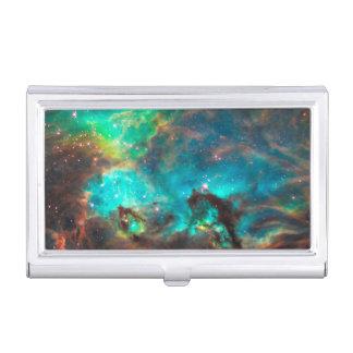 Stunning Aqua Star Cluster Business Card Holder