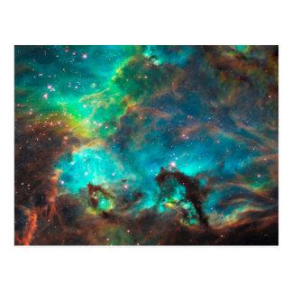 Stunning Aqua Star Cluster Postcard