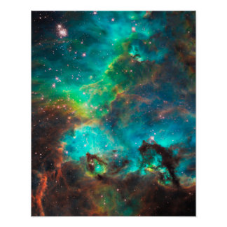 Stunning Aqua Star Cluster Posters