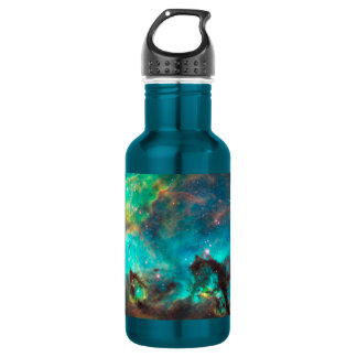 Stunning Aqua Star Cluster Stainless Steel Water Bottle