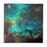 Stunning Aqua Star Cluster Tile