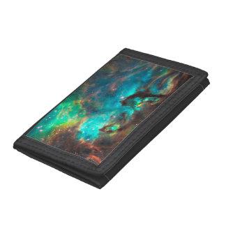 Stunning Aqua Star Cluster Tri-fold Wallet