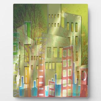 Stunning architecture cityscape art accessories plaque
