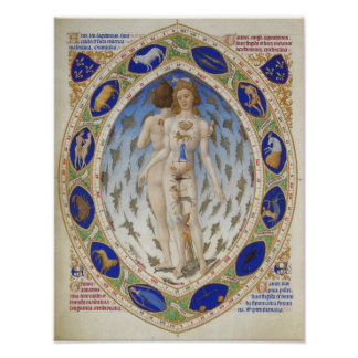 Stunning astrological chart, vintage art, zodiac poster