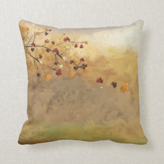 Stunning Autumn Falling Leaves Decorative Throw Throw Pillow