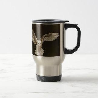 Stunning Barn Owl Hand Drawn Artwork Travel Mug