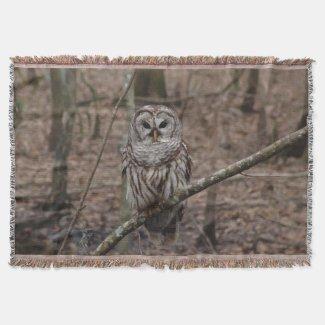 Barred Owl Throw Blanket