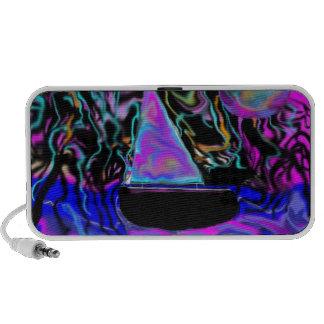 stunning beach scene vibrant color swirls travelling speakers