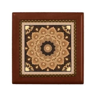 Stunning Beige Mandala Flower Gift Box