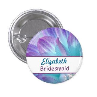 Stunning Blue and Purple Wedding Dahlia A08 Pinback Button