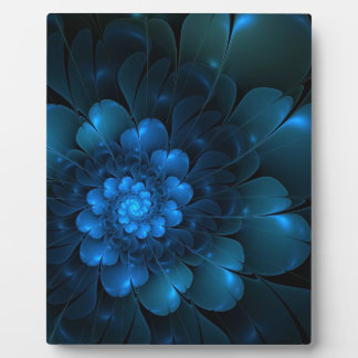 STUNNING BLUE FLOWERS DISPLAY PLAQUE