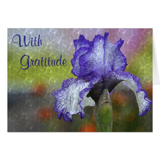 Stunning Blue Iris Thank You Card