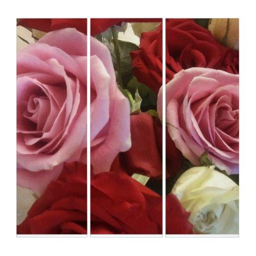 Stunning Bouquet of Roses Close Up Print Wall Art