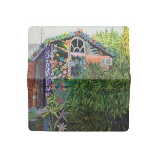 Stunning Bowling Ball House Check Book Cover