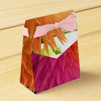 Stunning Bright Happy Orange Birthday Flowers Favor Box