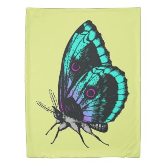 Butterfly Design Twin Duvet Cover