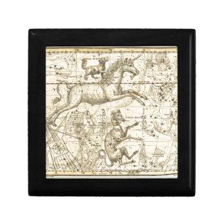 Stunning Canis Minor vintage star chart circa 1822 Jewelry Box