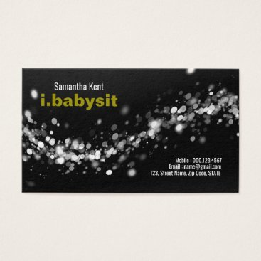 Stunning Chaotic Dust Specks Nanny Business Card