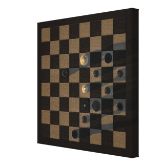 Stunning chess game canvas print