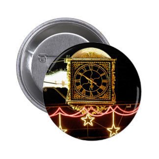 Stunning Clock at Xmas Pinback Button