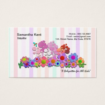 Stunning Colorful Flowers Galore Business Card