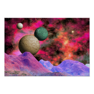 Stunning Colorful Space Scene Poster