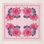 """Stunning Colors Roses Orchids Square Chiffon Scarf<br><div class=""""desc"""">Stunning Colors Roses Orchids Square Chiffon Scarf.  Fully customizable for weddings,  birthdays etc.  Shown in the large wrap size,  available in two other sizes.  Design by Claudine Boerner.</div>"""