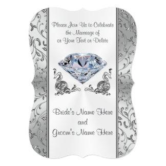 Stunning Diamond Wedding Invitations Your Text