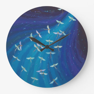 Stunning dragonfly swirl clock by Soozie Wray