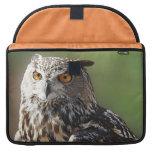 Stunning Eagle Owl with Orange Eyes MacBook Pro Sleeves