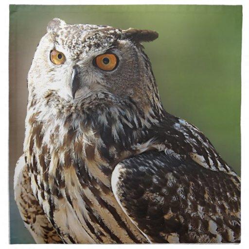 Stunning Eagle Owl with Orange Eyes Napkins