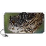 Stunning Eagle Owl with Orange Eyes Travel Speakers