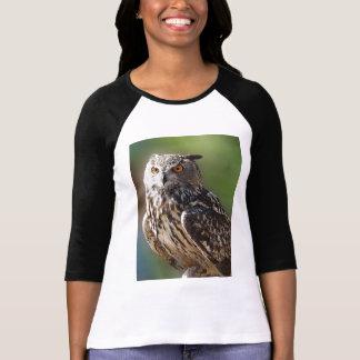 Stunning Eagle Owl with Orange Eyes T-Shirt