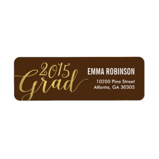 Stunning Elegance Editable Color Graduation Label Return Address Label