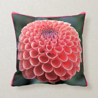 Stunning Elegant Hot Pink Dahlia Flower Throw Pillow