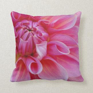 Stunning Elegant Pink Dahlia Flower Throw Pillow
