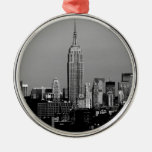 Stunning! Empire State Building New York City Round Metal Christmas Ornament