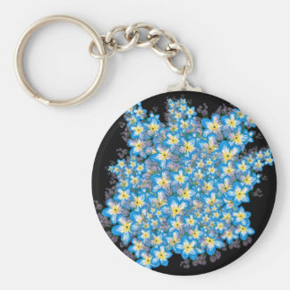 Stunning forget me not flower art on gifts key chain