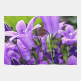 Stunning Fresh Lilac Wild Flowers Hand Towels